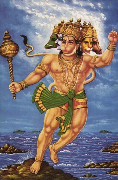 panchmukh-hanuman - hanuman superhero
