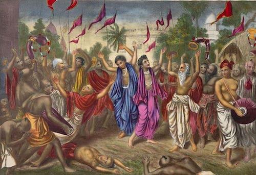 Kirtan-Mantra zingen , Sankirtan