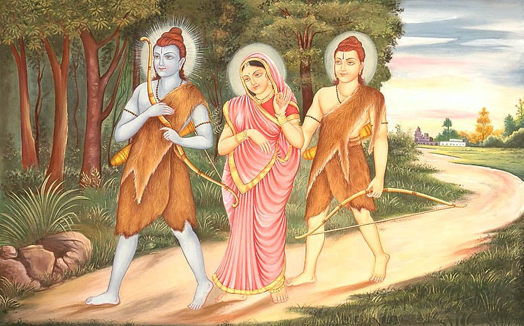 lord_rama_sita_and_lakshmana_in_exile