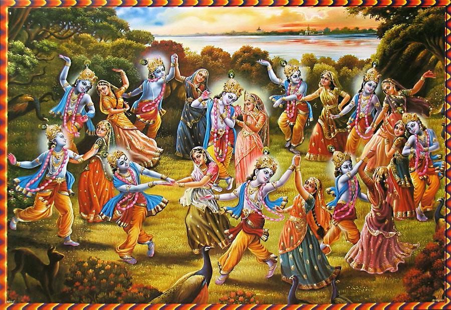 dansen met de goden: krishna danst met alle gopi's