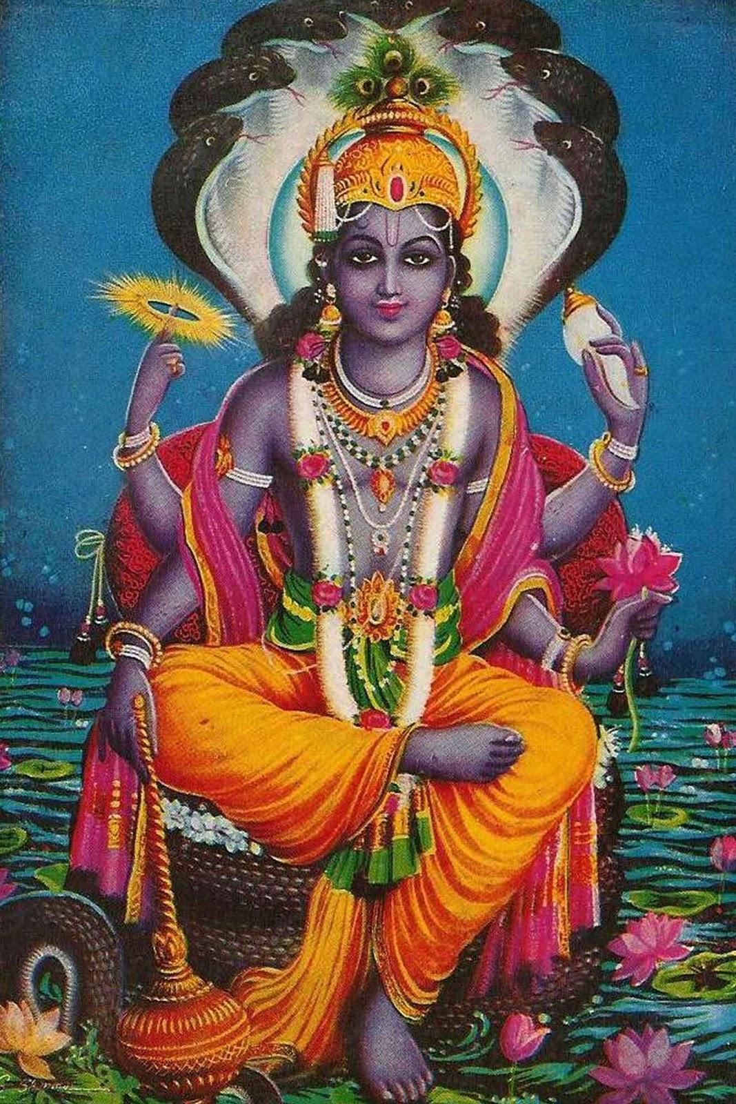 Vishnu+on+Snake+Adisesha