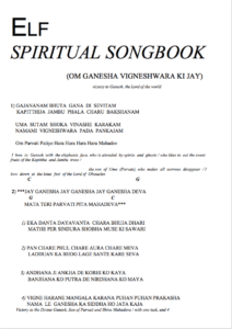 elf spiritual songbook kirtan mantra bhajan teksten