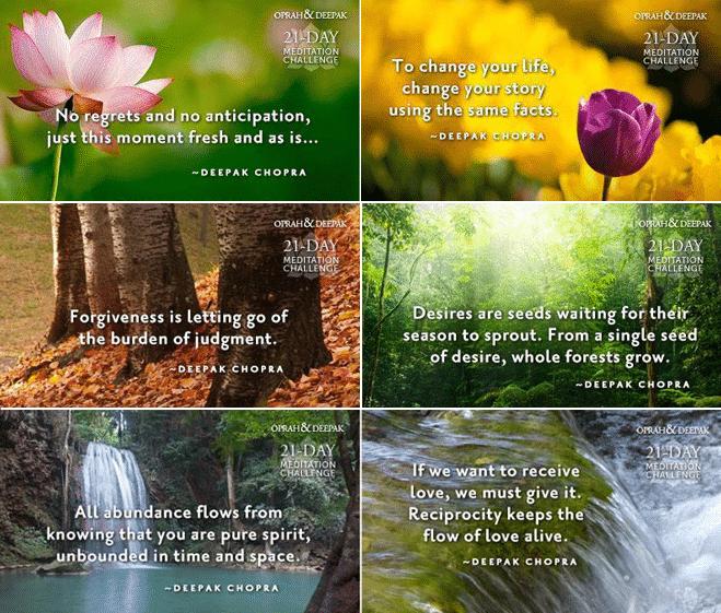 deepak chopra 21 day meditation challenge, ovevloed meditatie, creating abundance