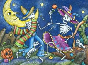 dansende geraamtes dia de los muertos
