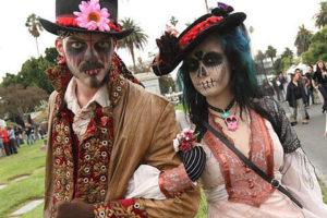 doodshoofden bruidspaar dia de los muertos