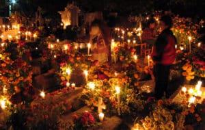 kerkhof bij nacht dia de los muertos