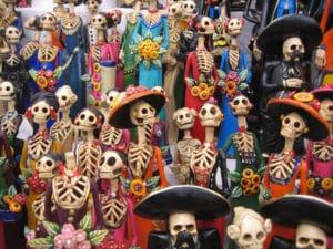 aangeklede geraamte poppen dia de los muertos