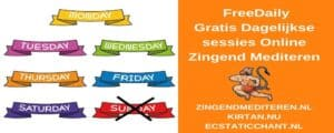 Freedaily: dagelijkse gratis sessies online zingend mediteren